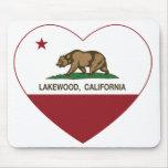 california flag lakewood heart mousepads