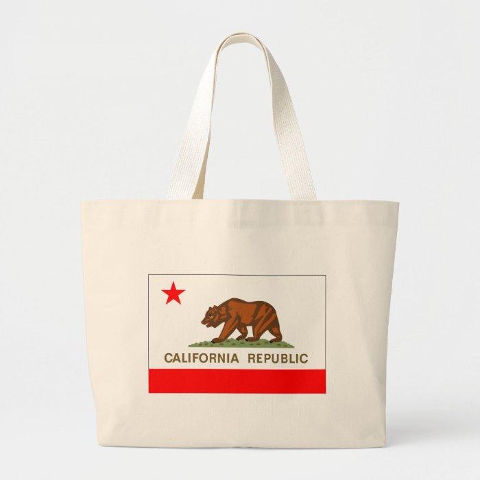 California Flag Large Tote Bag