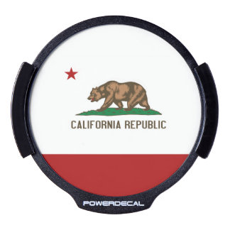 CALIFORNIA FLAG LED WINDOW DECAL