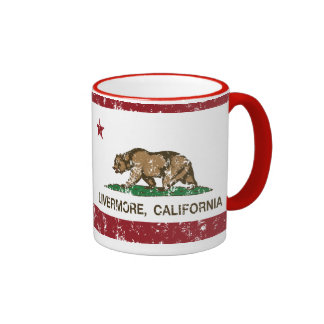 california flag livermore distressed coffee mug