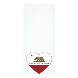 california flag los altos hills heart card