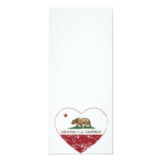 california flag los altos hills heart distressed card