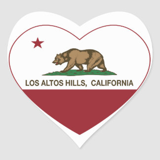 california flag los altos hills heart heart sticker