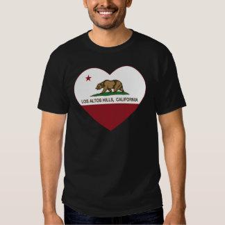 california flag los altos hills heart tee shirt