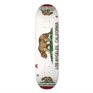 california flag los angeles distressed skateboard