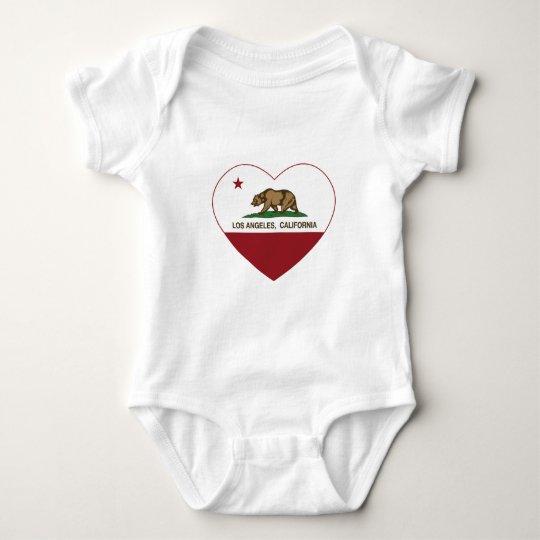 california flag los angeles heart baby bodysuit