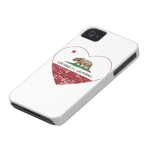 california flag los angeles heart distressed iPhone 4 cover