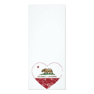 california flag los banos heart distressed card