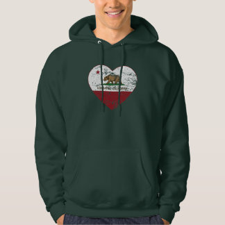 california flag los gatos heart distressed hoodie