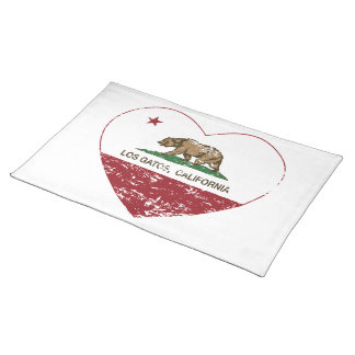california flag los gatos heart distressed place mat