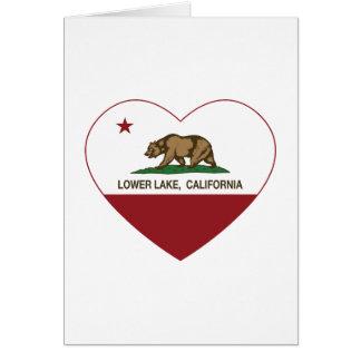 california flag lower lake heart card