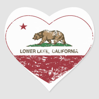 california flag lower lake heart distressed heart sticker