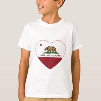 california flag lower lake heart T-Shirt