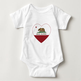 california flag malibu heart baby bodysuit