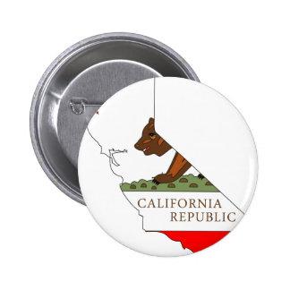 California Flag Map Pinback Button