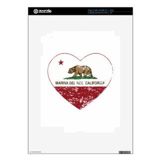 california flag marina del ray heart distressed skin for iPad 2