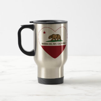 california flag marina del ray heart mugs