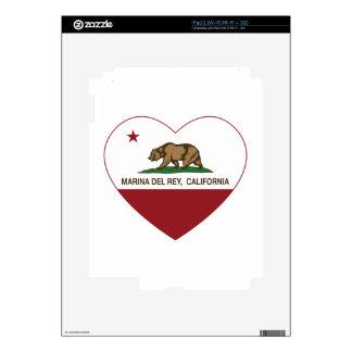 california flag marina del ray heart skins for the iPad 2