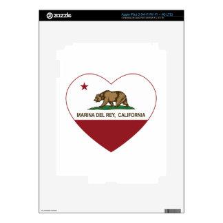california flag marina del ray heart decals for iPad 3