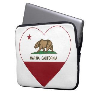 california flag marina heart laptop sleeves