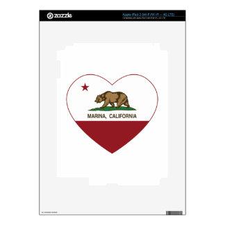 california flag marina heart decal for iPad 3