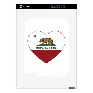 california flag marina heart iPad 2 skin