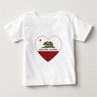 california flag middletown heart t shirt