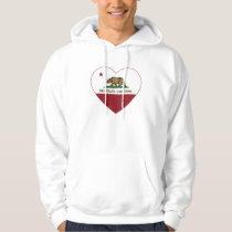 california flag mill valley heart hoodie
