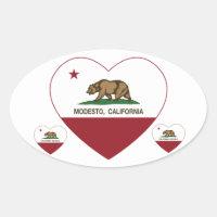 california flag modesto heart