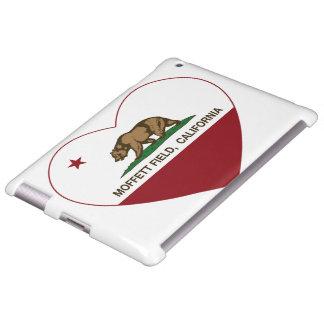 california flag moffett field heart
