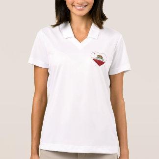 california flag moffett field heart polo shirt