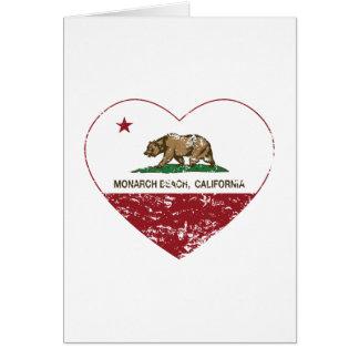 california flag monarch beach heart distressed card