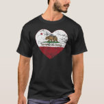 california flag monterey heart distressed T-Shirt