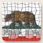 California Flag Mosaic Pattern Drink Coaster
