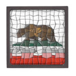 California Flag Mosaic Pattern Premium Jewelry Box