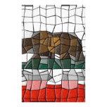 California Flag Mosaic Pattern Stationery Paper