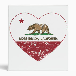 california flag moss beach heart distressed binders