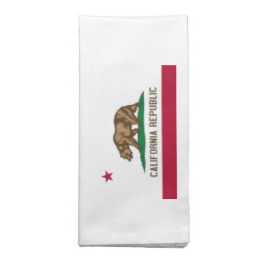 California Flag Napkins