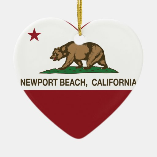 california flag newport beach heart christmas tree ornaments