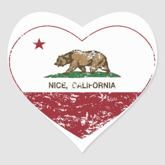 california flag nice heart distressed heart sticker