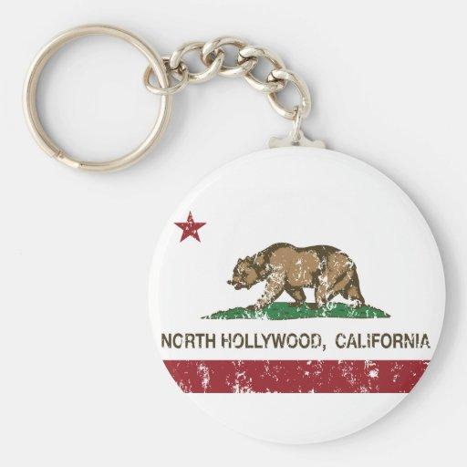 california flag north hollywood distressed keychains