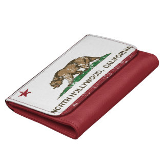 california flag north hollywood distressed women's wallets