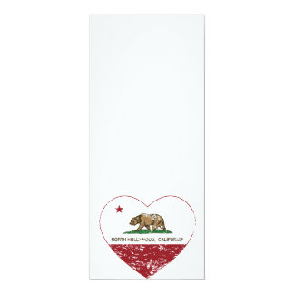 california flag north hollywood heart distressed card
