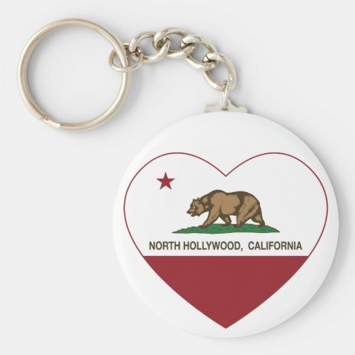 california flag north hollywood heart keychain