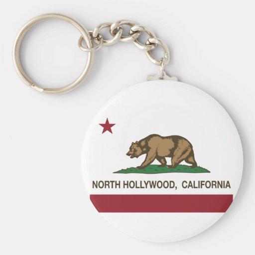 california flag north hollywood keychain