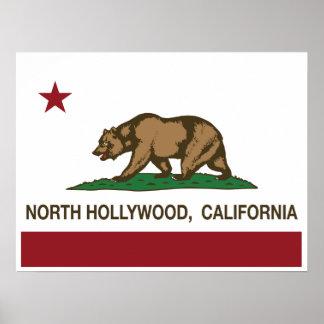 california flag north hollywood print