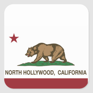 california flag north hollywood square sticker