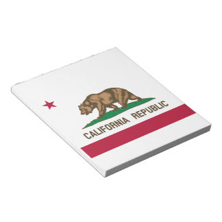 California Flag Notepad