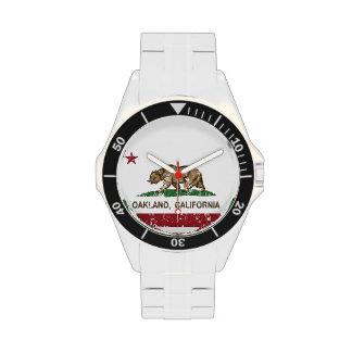 california flag oakland wristwatch