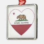 california flag ontario heart christmas tree ornaments